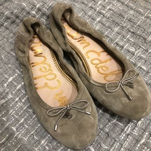 Sam Edelman 7 flats mouse grey/taupe